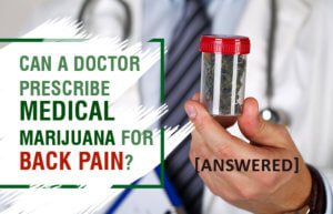 Can a Doctor Prescribe Medical Marijuana for Back Pain? [Answered]